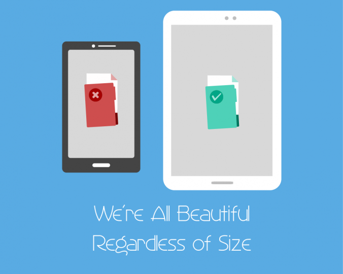 We're all beautiful regardless of size